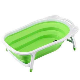 Preloved Portable Foldable Baby Bathtub - Green RM35