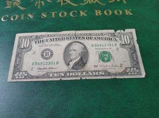 1995年10元美金