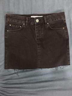 ASOS Short black denim skirt
