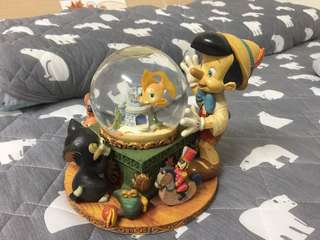 正版迪士尼小木偶音樂水晶球 無盒可議價