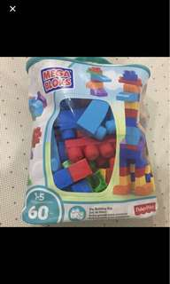 Mega Bloks Big Building Bag 60pcs (sealed See 2nd Pic)
