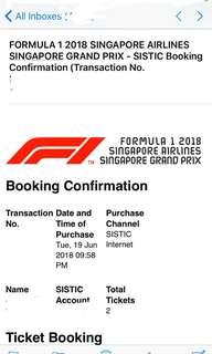 🚚 F1 Grand Prix Singapore Formula 1 with Jay Chou!
