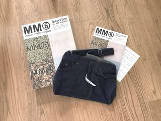 Martin Margiela mm6 denim jeans bag 牛仔褲造型袋
