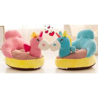 Unicorn Baby Sofa Blue and Pink