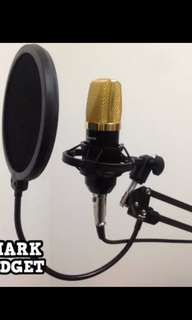 Paket Smule / recording mic condenser bm 700 with stand mic