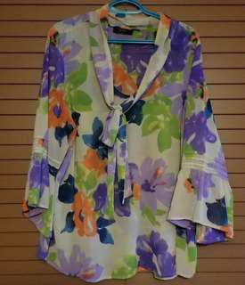 Jessica Simpson Sheer Floral Blouse