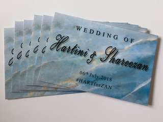 Wedding Hantaran Labels / Tags For Gift Trays