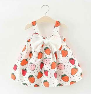 """I heart fruits!"" little dress"