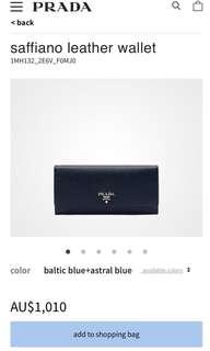 Prada wallet!