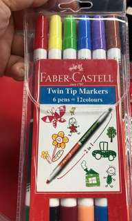 Faber castell twin tip markers set new