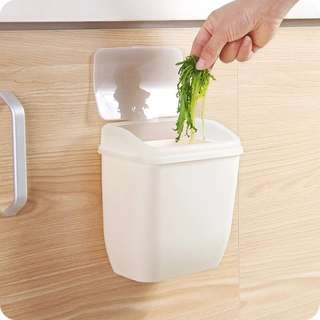 無痕貼掛牆式廚房有蓋垃圾桶收納小桶 廁所