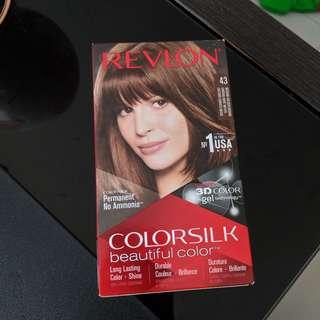 Revlon Colorsilk Permanent Hair Dye Color #43 Medium Golden Brown (Ammonia Free) 3D Color Gel Technology