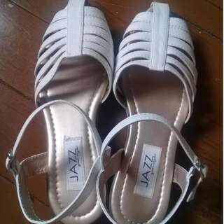 Barely used Jazz white sandals