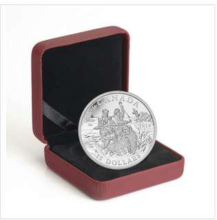 2014 $15 Exploring Canada: The Voyageurs - Pure Silver Coin