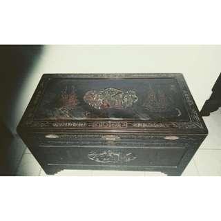 vintage, antique wooden chest