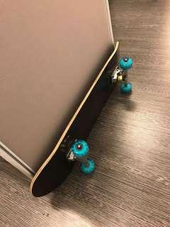 Pure black skateboard