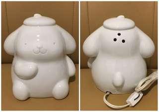 Sanrio Pom Pom Purin 布甸狗 1998 年 人形陶瓷燈 (Made in Japan) 全新未用過 (** 只限北角地鐵站交收 **)