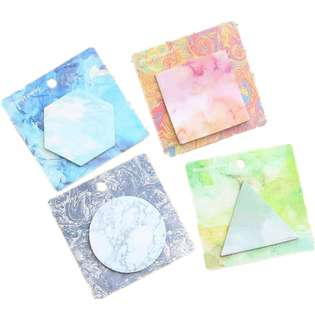 Marble Pastel Post-It Notes Memo Pad Set