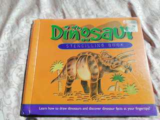 DINOSAURS STENCILING BOOK