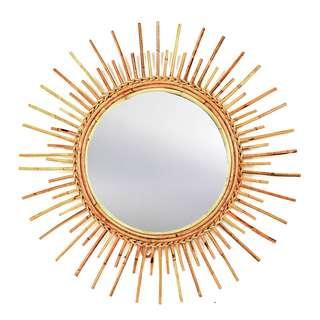Rattan Mirror Lengkong, 73 cm