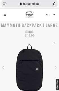 Herschel mammoth backpack