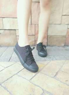 Low cut shoes.