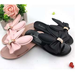 Simple Bunny Ear with Ribbon Design Sandal