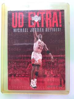 Michael Jordan retirement card