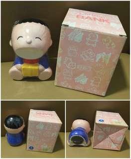 Sanrio Minna No Tabo 1988 年 人形陶瓷儲金箱 (4.5 吋高) (** 只限北角地鐵站交收 **)