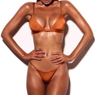 Burnt Orange Triangle Bikini Set