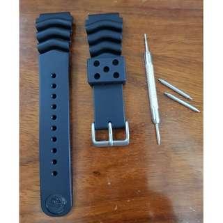 Seiko Z22 rubber diver's strap Original & OEM