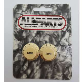 Set of 2 Cream Tone Knobs (by Allparts)