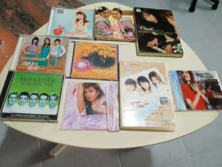 S.H.E Westlife Twins Cyndi Wang Jolin Tsai DVDs vCDs