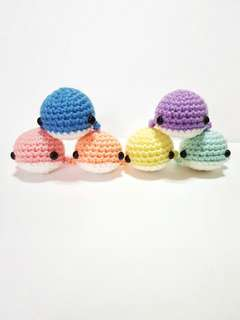 JUNE SALE - Handmade amigurumi toy whale