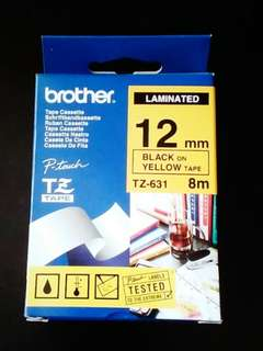 Brother Laminated TZ 631 (12mm)