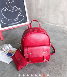 2-in-1 Convertible Korean Faux leather Bag