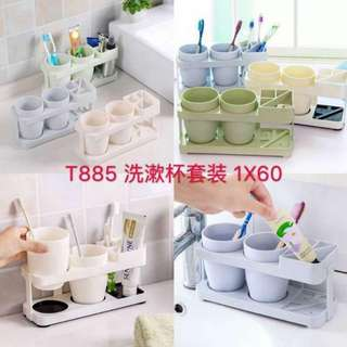 toothbrush & toothpaste holder