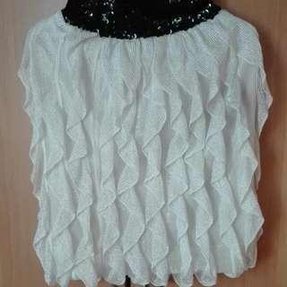 Ruffledskirt White S-M