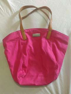 Mango Pink Canvass Tote Bag