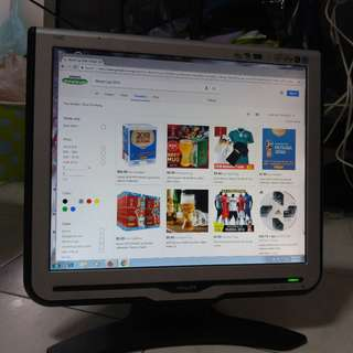 """Pre-Loved Philips 17"""" LCD Monitor"""