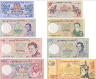 Bhutan UNC New Currency Notes