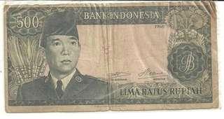 uang 500 rupiah seri soekarno tahun 1964