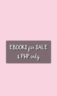Ebooks for 2 PHP each