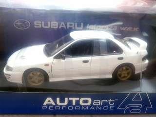 1/18 AUTOart - Subaru Impreza WRX STi GC8 Type RA (4 doors, White)