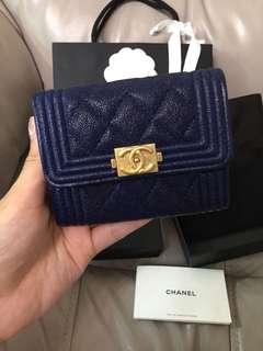 Chanel L card holder 26字頭 boy 卡片套 銀包 wallet