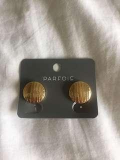 Parfois Gold Clip-on earrings
