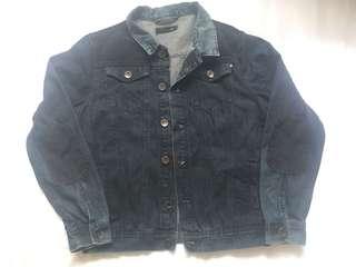 Denim Jacket - Size L - Dark blue
