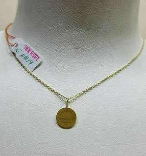 Pawnable 18k saudi necklace