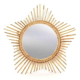 Rattan Mirror Bintang, 80 cm