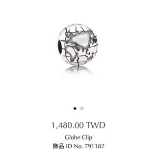 Pandora 固定釦 地球 扣環